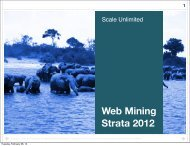 Web Mining Strata 2012 - Bad Request
