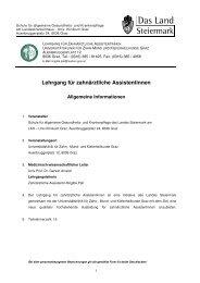 Lehrgang für zahnärztliche Assistentinnen - Info-Graz