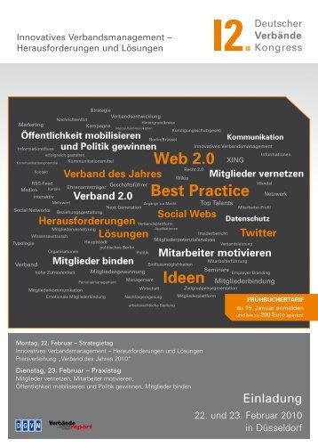 Best Practice Web 2.0 - 13. Deutscher Verbändekongress