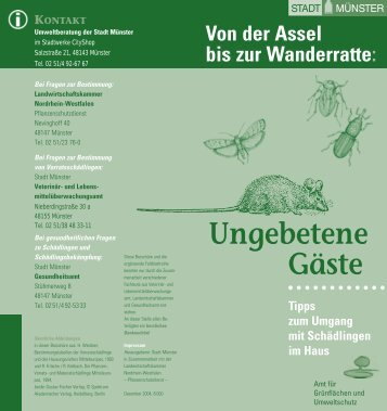 FALTBLATTREIHE »UNGEBETENE GÄSTE - Münster
