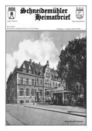 Schneidemühler Heimatbrief 3. Ausgabe - Heimatkreis Schneidemühl