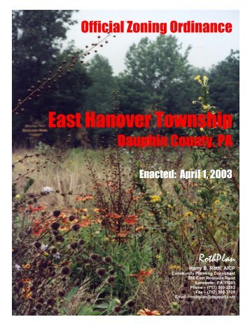 Zoning Ordinances & Map - East Hanover Township