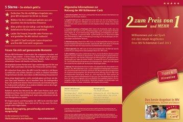 Tipps & Hinweise - SchlemmerCard