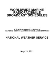 List of Worldwide Marine Weatherfax Stations (PDF)