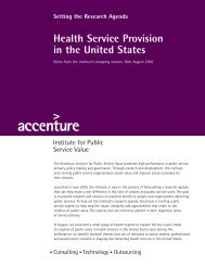 Health Service Provision in the United States