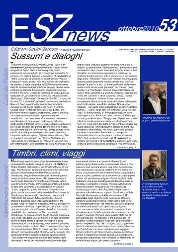 ESZ NEWS N. 53_ottobre 2010.pdf - Edizioni Suvini Zerboni