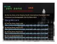 On the Joy Zone: Part 2 of 4 - San Francisco Bay Area Post Card Club