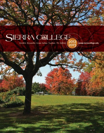 12-13 catalog web - Sierra College