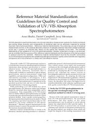 Reference Material Standardization Guidelines for ... - S.I. Photonics