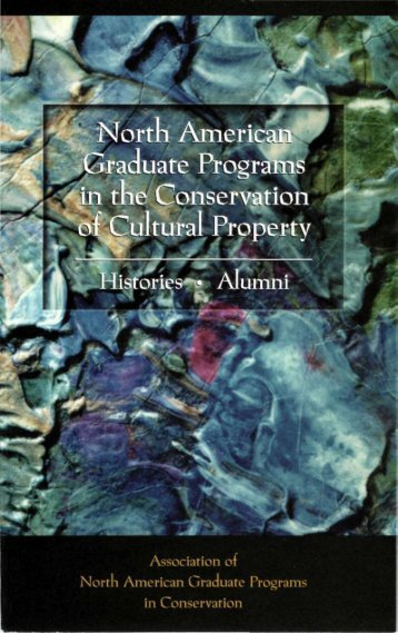 North American Graduate Programs in the Conservation of