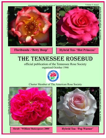 Spring NewsLetter - Tennessee Rose Society