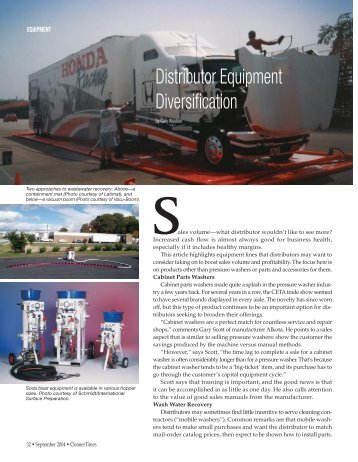 Distributor Equipment Diversification - Cleaner Times Magazine