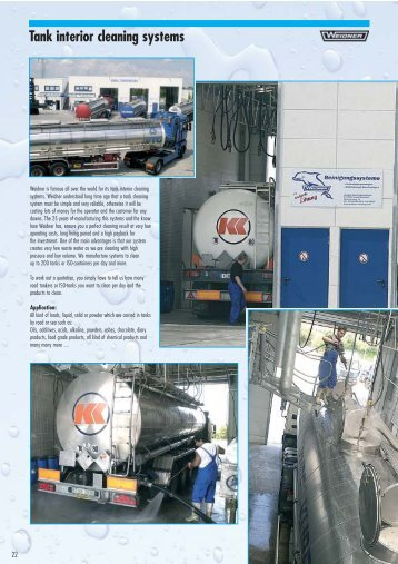 Tank interior cleaning systems stationary