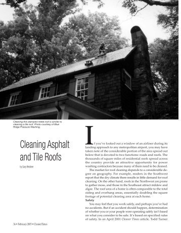 Cleaning Asphalt and Tile Roofs - Cleaner Times Magazine