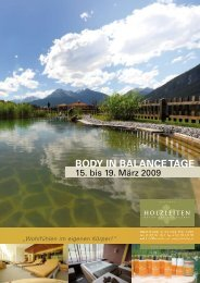 Body in Balance Tage
