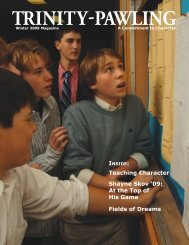 Teaching Character - Trinity Pawling School