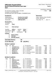 Offizielle Ergebnisliste Bezirks Schülerschimeisterschaft 2009 ALPIN