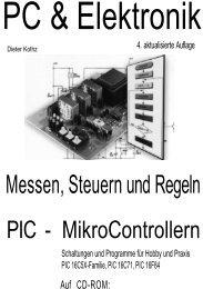 Messen, Steuern und Regeln mit PIC-Mikrocontrollern - HTL Wien 10
