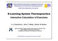 Interactive Calculation of Exercises E-Learning ... - zittau/görlitz