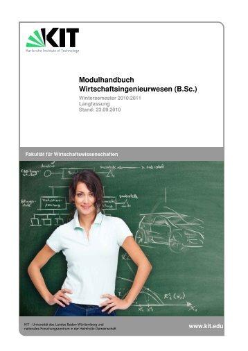 Modulhandbuch Wirtschaftsingenieurwesen (B.Sc.) - Fakultät für ...