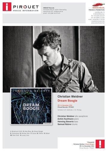 Christian Weidner – Dream Boogie - Pirouet Records