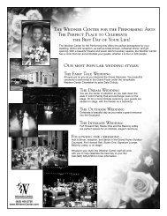 Weidner Center Wedding Packet - Weidner Center for the ...