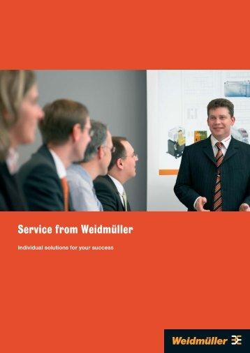 Service from Weidmüller - Weidmueller