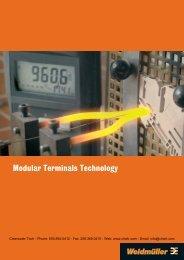 Weidmuller Modular Terminal Blocks - Clearwater Technologies, Inc.