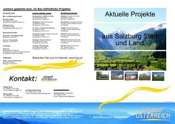Kontakt: weitere geplante bzw. im Bau befindliche Projekte