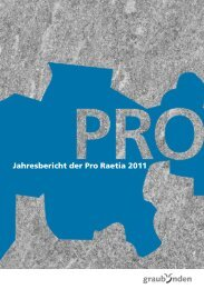 Jahresbericht der Pro Raetia 2011