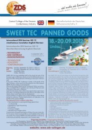 Programm SWEET TEC 2012 Panned Goods - Zentralfachschule ...
