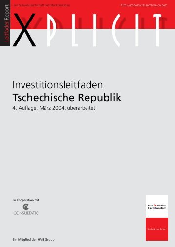 Investitionsleitfaden Tschechische Republik - Consultatio
