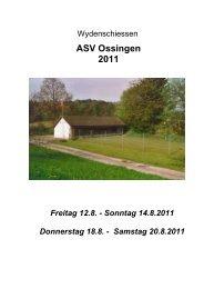 Schiessplan 30m - ASV Ossingen