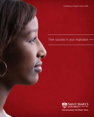 Their success is your inspiration - Saint Mary's University