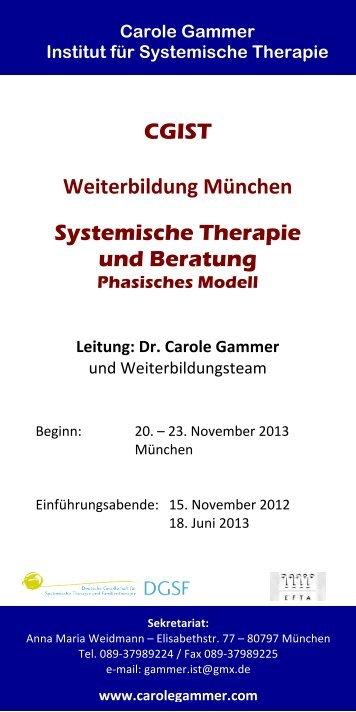 CGIST Weiterbildung München Systemische ... - carole gammer