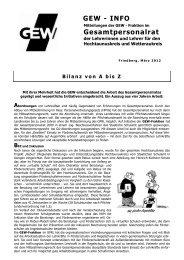 GEW - INFO Gesamtpersonalrat - GEW Kreisverband Büdingen