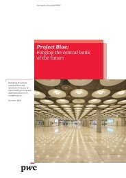 Project Blue: Forging the central bank of the future - PwC
