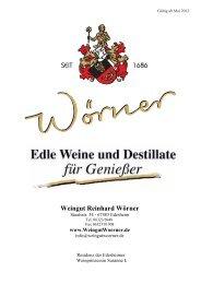 Weingut Reinhard Wörner - Weingueter.de