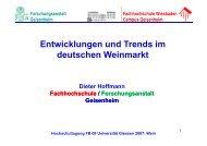Entwicklungen und Trends im deutschen Weinmarkt - Oenologie