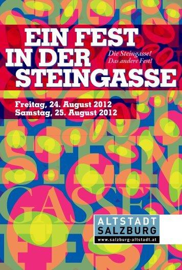 EIN FEST IN DER STEINGASSE EIN FEST IN ... - Altstadt Salzburg