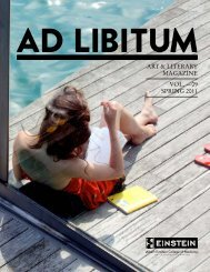 Ad Libitum - Albert Einstein College of Medicine