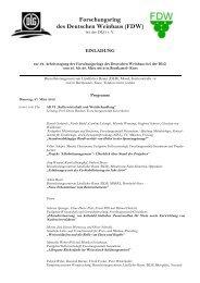 Forschungsring des Deutschen Weinbaus - FDW