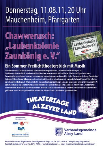 Theatertage Alzeyer Land