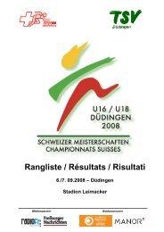 Sponsoren und Partner - Swiss Athletics