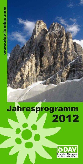 Jahresprogramm2012 - DAV LANDAU: Startseite