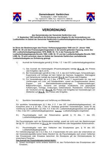 VERORDNUNG - Hartkirchen