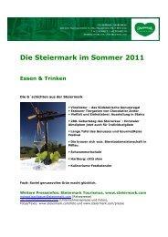 Die Steiermark im Sommer 2011 Essen & Trinken - Presse ...