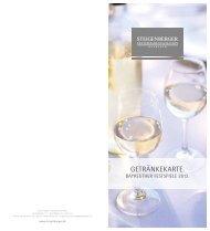 Getränkekarte Bayreuth Festspiele - Steigenberger Hotel Group