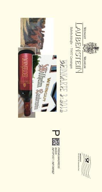 Die aktuelle Weinkarte - Weingut Wilhelm Laubenstein