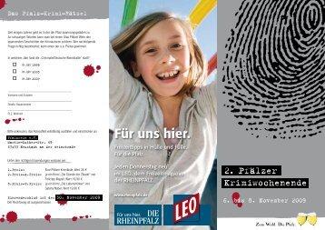 2. Pfälzer Krimiwochenende - Pfalz